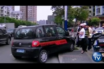 Father Leaps Out of a Moving Vehicle to Rescue Daughter