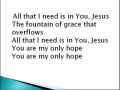 All That I Need by Sovereign Grace Music