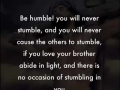 Be humble! never stumble - a word from Lord Jesus