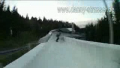 Skateboarding on a Bobsled Track
