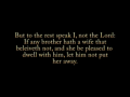 1 Corinthians 7:10-17