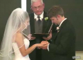 Bride Can't Stop Laughing During Vows