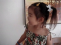 Super cute 2 year old girl singing Amazing Grace