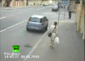 Woman's Narrow Escape From Car Crash Chaos