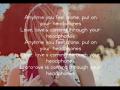 Britt Nicole - Headphones (Acoustic Slideshow With Lyrics)