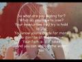 Britt Nicole - Walk On The Water (Acoustic Slideshow with Lyrics)