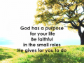 Purpose ........by Jason C Davis