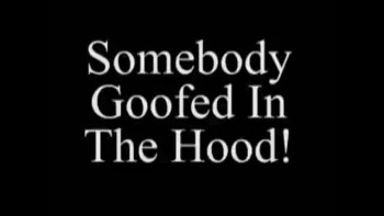 Somebody Goofed in The Hood