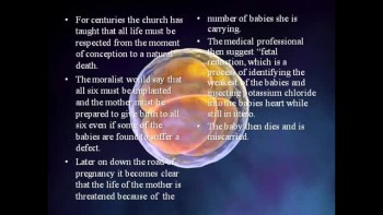 In Vitro Fertilization and the Catholic Church