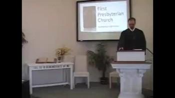 Sunday Worship Service, 11/07/2010. First Presbyterian Church, Perkasie, PA Rev. Richard Scott MacLaren