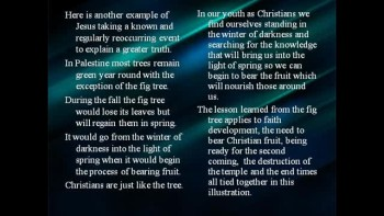 Bible Study – Mark 13:28-31 The Lesson of the Fig Tree