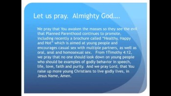Planned Parenthood Sells Graphic Sex Guide for Youth (The Evening Prayer - 18 Nov 10)