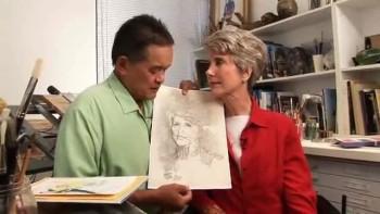 Joni and Ken in Art Studio