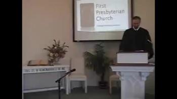 Sunday Worship Service, 11/28/2010. First Presbyterian Church, Perkasie. Richard Scott MacLaren