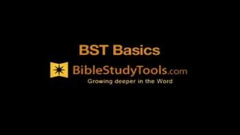 Bible Study Tools: Basics