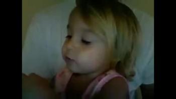 Cute 2 year old sings to Jesus