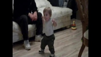 My son starting to walk