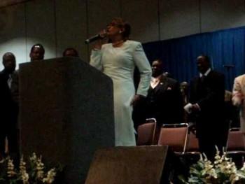 Dr. Dorinda Clark-Cole preaching @ the ME Convention Revival Fire!!