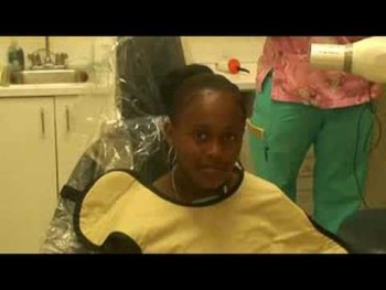 Euvanna in the dentist chair
