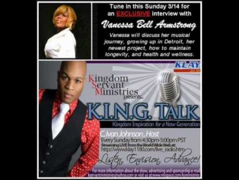 Vanessa Bell Armstrong on KING Talk Radio Part 1
