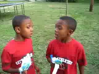 8 Year Old Twins Singing Gospel