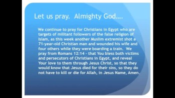 The Evening Prayer - 22 Jan 11 - Muslim Extremist Shoots Christian Dead in Egypt