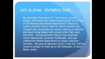 The Evening Prayer - 24 Jan 11 - Abortion Doctor Kills 7 Fully Born Babies with Scissors