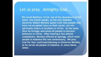 The Evening Prayer - 29 Jan 11 - Alabama Governor Under Fire for Praising Jesus Christ