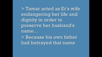 Tamar:From Ruin To Righteousness""