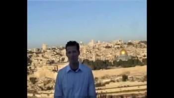 Matthew 24, filmed on the Mount of Olives across from Jerusalem, Israel (Tom Meyer)