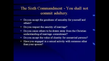 Ten Commandments (Part Two)