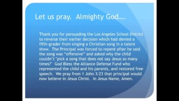 The Evening Prayer - 27 Mar 11 - Principal Forced to Repent After Calling Jesus Offensive