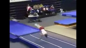 Unbelievable Gymnast Skill