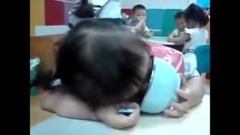 Cute Baby Falls Asleep While Eating