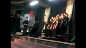 Collide Student Ministries Choir Worshiping God
