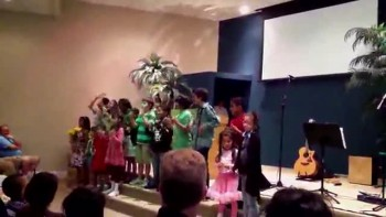 Kids from Calvary Chapel sing for the Easters Sunday Service (4-24-2011)