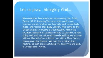 The Evening Prayer - 29 Apr 11 - Baby Joseph Returns Home to Canada