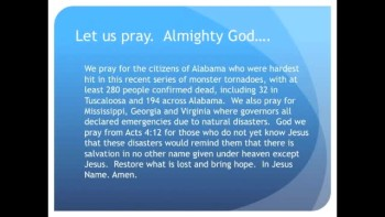 The Evening Prayer - 01 May 11 - Alabama Savaged by Tornadoes