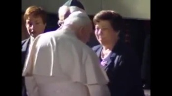 Pope John Paul II meets Holocaust survivors