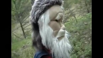Eli the Puppets walk in the Woods