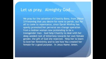 The Evening Prayer - 18 May 11 - Chastity Bono Celebrated for Perversion