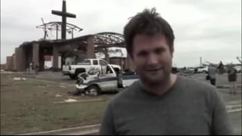 Cross still standing after tornado