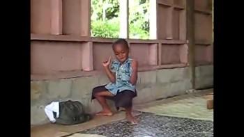 Cute Kid Dances at Church