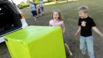 Soldier Dad Surprises Kids Inside Giant Present