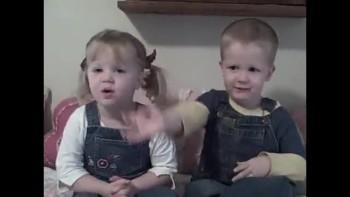 DARLING British Twins Recite Psalm 100