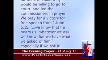 The Evening Prayer - 21 Aug 11 - Virginia Town Defies ACLU by Praying in Jesus' Name