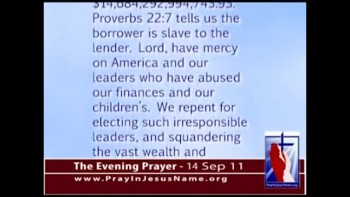The Evening Prayer - 14 Sep 11 -U.S. Debt Climbs 59 Percent Under Obama