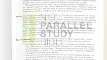 The NLT Parallel Study Bible