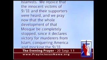 The Evening Prayer - 20 Sep 11 - Federal Funds Denied for Ground Zero Mosque