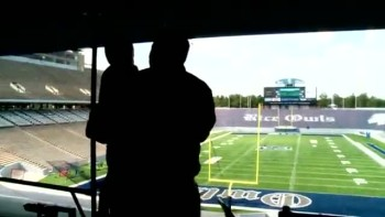 Rice Football Team Embraces Young Fan with Cancer